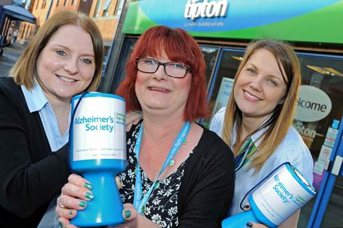 Charity Committee members, Sally & Amy with Alzheimer's Society representative