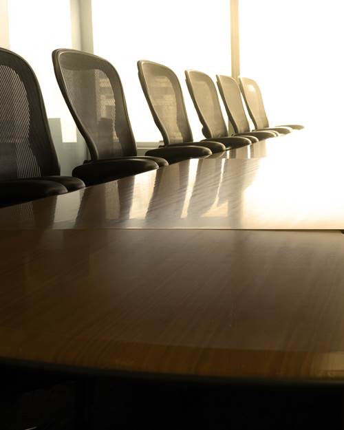Boardroom table and chairs