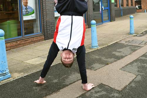 Local GB Gymnast outside Tipton branch