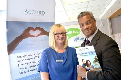 Kate Smith, Customer Service Team Leader, Tipton & Coseley Building Society with Derek Dickson, Managing Consultant, Accord Legal Services